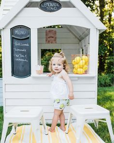 Backyard Lemonade Stand Playhouse