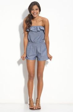 chambray romper I love rompers Summer Wear, Spring Summer Fashion, Summer Outfits, Cute Outfits, Summer Romper, Summer Clothes, Summer Time, Junior Rompers, Cute Rompers