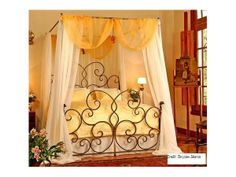Iron Canopy Bed, Canopy Bed Frame, Canopy Bedroom, Canopy Beds, Master Bedroom, Wrought Iron Bed Frames, Mexican Interior Design, Country Look, Bed Frame Design