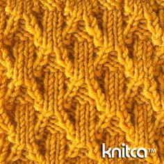 Cable 12 Knitting Stitch Tutorial - (knitca)