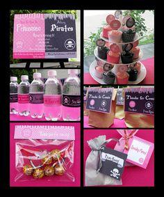 Pirate and princess birthday party theme