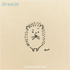 889 ね、お願い! Hey, can I ask you something? #illustration #hedgehog #イラスト #ハリネズミ #なみはりねずみ #illustagram