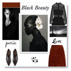 """Black Beauty"" by cinnamonrose30 ❤ liked on Polyvore featuring self-portrait, Coliàc Martina Grasselli, Diane Von Furstenberg and Bomedo"