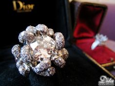 """""""I took my engagement diamond and had it transformed at Christian Dior in Paris into a beautiful ring. It's nice; it's big. I feel like I suffered greatly for that diamond, and it needed to be reborn into something better.""""     - Dita Von Teese"""