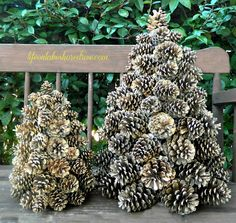Winter Pine Cone Trees |Life on Lakeshore Drive