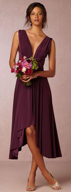 Rich & romantic bridesmaid dress