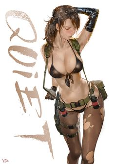 Quiet by YD at http://pixiv.net/member.php?id=853087 - More Fanart at https://pinterest.com/supergirlsart/ #quiet #mgsv #mgs #metal #gear #solid #v #phantom #pain #phantompain #metalgear #metalgearsolid #fanart #fan #art #sexy #sniper