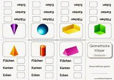 Mini-Falt-Heft - Geometrische Formen