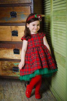 """Купить Платье """"Очаровательная клеточка"""" - ярко-красный, в клеточку, платье, пышное платье, платье в клетку"""