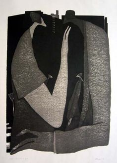 [Art Work / Japanese Prints] Aoki,Tetsuo [ Face to face ] ed.30, 2004, image size:58(cm)x41(cm), woodblock