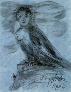 Pablo Picasso. Dora Maar en forme d`oiseau. 1936 year