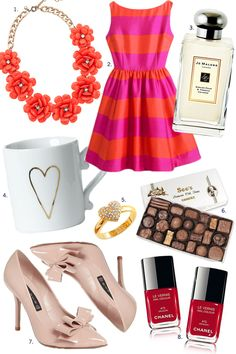 Hello, Love! | Pink Peonies. Some of my favorite things: West Elm mug, Jo Malone, J.Crew Necklace and Kate Spade Dress