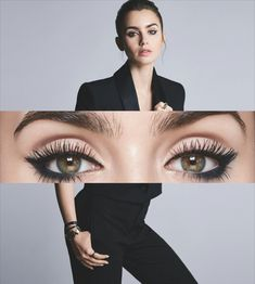 Eye on You (Lancôme Shoot) – Lily Collins Lovage Lily Collins, Lilly Collins Makeup, Liz Kendall, Beauty Makeup, Eye Makeup, Pictures Of Lily, Lily James, Lancome, Up Hairstyles