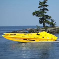"40"" 1/14 Huge Scale Admiral Electric RC Speed Boat YELLOW-PlanePowerHobby"