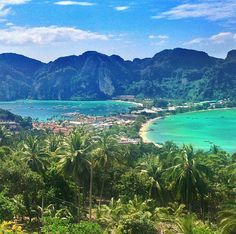 Phi Phi Island, Thailand. The Phi Phi Islands are in Thailand, between the large island of Phuket and the west Strait of Malacca coast of the mainland.  Photo by _markfitz via Instagram #amitrips #travel #asia #thailand