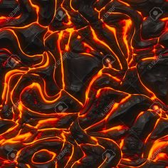 Seamless Magma Or Lava Texture With Melting Rocks And Fire Stock ...
