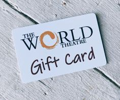 The World Theatre - Charters Towers: The World Theatre Gift Card! November 19th, September 17, July 11, April 1st, World Theatre, Cinema Ticket, Towers, First Names, Tours