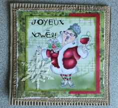 Art Impressions Rubber Stamps: Cheers to You (Sku#4664) ...Handmade Christmas card. wine, santa suit
