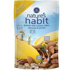 Nature's Habits Banana Chips, Almond, Pecan (6x12 Oz)