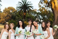 All in white - bridesmaids + a touch of something blue ;)