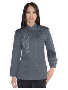 Charcoal Ladies Chef Tunic newchef.com