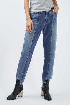 Topshop Reclaim Half and Half Jean - Clothing- Topshop Europe