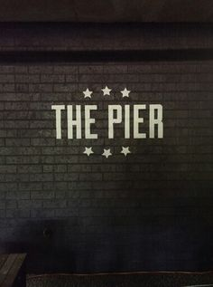 The Pier by Tim Godby. New drop in centre run by Chicago Youth Group at Dural Baptist Church. #handlettering #branding #design