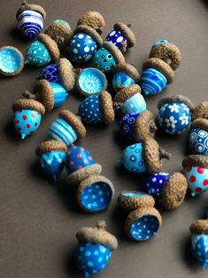 ruby silvious art — 363 days of tea. Autumn Crafts, Easy Christmas Crafts, Nature Crafts, Acorn Crafts, Pine Cone Crafts, Art For Kids, Crafts For Kids, Arts And Crafts, Crafts To Make And Sell