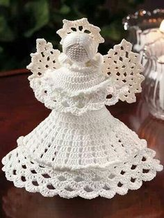 Stitch a beautiful crochet angel for the holidays or to be used year-round. Kit includes enough size 10 crochet cotton to make 1 angel. Project is made using a size steel crochet hook. Finished angel is tall including Halo. Crochet Christmas Ornaments, Christmas Crochet Patterns, Holiday Crochet, Crochet Snowflakes, Christmas Angels, Christmas Crafts, Christmas Mood, Christmas Ideas, Christmas Decorations