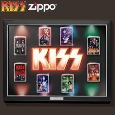 Kiss Merchandise, Kiss Logo, Zippo Collection, Wall Clock Light, Detroit Rock City, Led Stage Lights, Blending Sounds, Kiss Images, Heavy Metal Rock