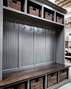 p/the-dublin-gray-mudroom-lockers-bench-storage-furniture-cubbies-coat-rack-hall-tree - The world's most private search engine Entryway Shoe Storage, Entryway Decor, Locker Storage, Entryway Furniture, Mudroom Storage Ideas, Mudroom Bench Plans, Wall Storage, Furniture Storage, Furniture Ideas