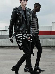 Balmain designer Pants for men Balmain Leather Jacket, Balmain Men, Aesthetic Fashion, Aesthetic Clothes, New Mens Fashion, Men's Fashion, Men In Heels, Clothing Hacks, Men's Clothing