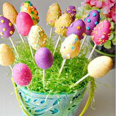 #122643 - Easter Egg Cake Pops By TasteSpotting -- see more at LuxeFinds.com