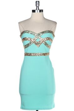 Crown Jewels Sweetheart Dress - Mint - $59.00 | Daily Chic Dresses | International Shipping
