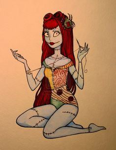 Sally PINUP from The Nightmare Before Christmas.