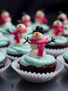 cupcakes navidad #cupcakes #fondant #navidad #christmas