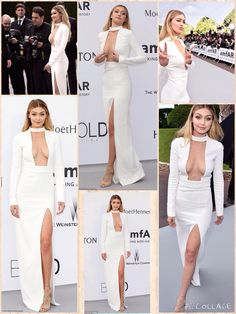 Model Gigi Hadid attends amfAR's 22nd Cinema Against AIDS Gala, Presented By Bold Films And Harry Winston at Hotel du Cap-Eden-Roc on May 21, 2015 in Cap d'Antibes, France. Gigi Hadid in Tom Ford