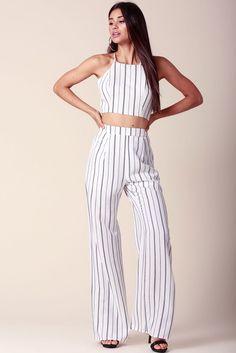 Stella Striped 2PC Pant Set
