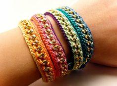 Shackled stacked friendship bracelet