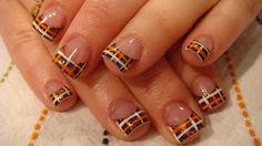 Nail Art With Fading Plaid | Nail Art Express: October 2009