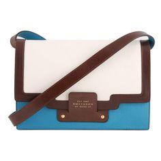 Smythson Cooper Shoulder Bag in Turquoise