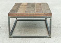 Industrial Hardwood Coffee Table The por brandMOJOinteriors