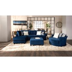 Home Depot Outdoor Furniture Farmhouse Bench White Living Room Furniture Layout Product Blue Living Room Decor, Living Room Color Schemes, Living Room Sets, Home Living Room, Living Room Designs, Navy Blue And Grey Living Room, Living Room Sectional, Living Room Seating, Living Area