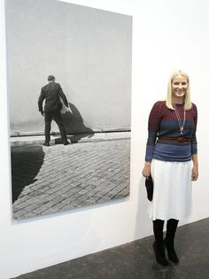 Crown Princess Mette-Marit of Norway attended the opening of a photography exhibition in memory of artist Diptyk/Tom Sandberg at Kunstnernes Hus in Oslo on April 24, 2015.