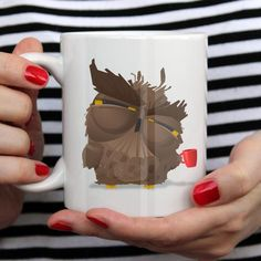 Grumpy Cofffee Owl mug by theprintedfox.com - the perfect gift for coffee lovers Coffee Lover Gifts, Coffee Lovers, Cute Gifts, Best Gifts, Owl Mug, Unique Gifts For Her, Nerdy, Cool Designs, Geek Stuff