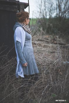 theblogbook   sewing   knitted dress with hoodie, lillestoff, kibadoo