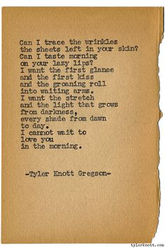 Typewriter Series #1198 by Tyler Knott Gregson*Chasers of the Light, is available through Amazon, Barnes and Noble, IndieBound , Books-A-Million , Paper Source or Anthropologie *