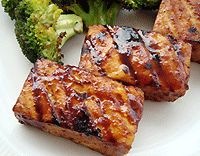 Smokey Grilled Tofu with Hoisin Sauce... I won't be grilling anything just yet, but my big new jar of hoisin sauce is burning a hole in my pantry, sooo... Smokey Baked Tofu with Hoisin Sauce?