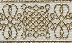 """1"""" Gold on White trim... great for Bridal creations!"""