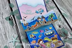 Ocean Scenes, Interactive Cards, Pop Up Cards, Lawn Fawn, Cardmaking, Friendship, Thankful, Paper Crafts, Sky